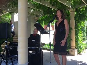 Performing at Margaret Rivers Secret Garden Long Table Lunch